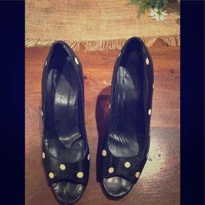 Via spiga peep toe heels